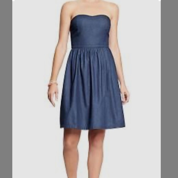 Dresses | Strapless Chambray Dress Size